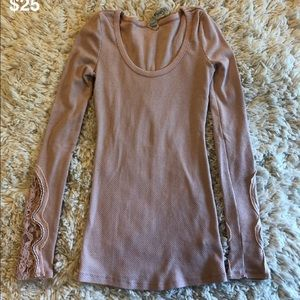 Free people pink thermal size S